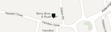 ベリー・ブラザーズ&ラッド ベイジングストーク店地図